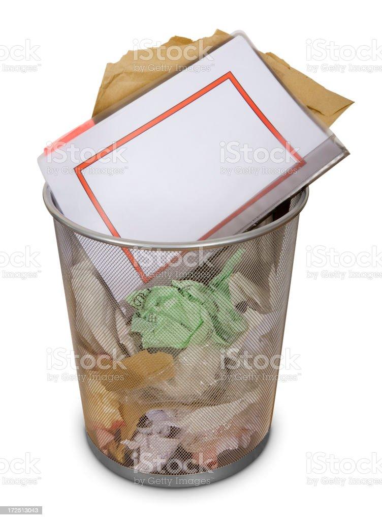 Office waste-bin: Blank royalty-free stock photo