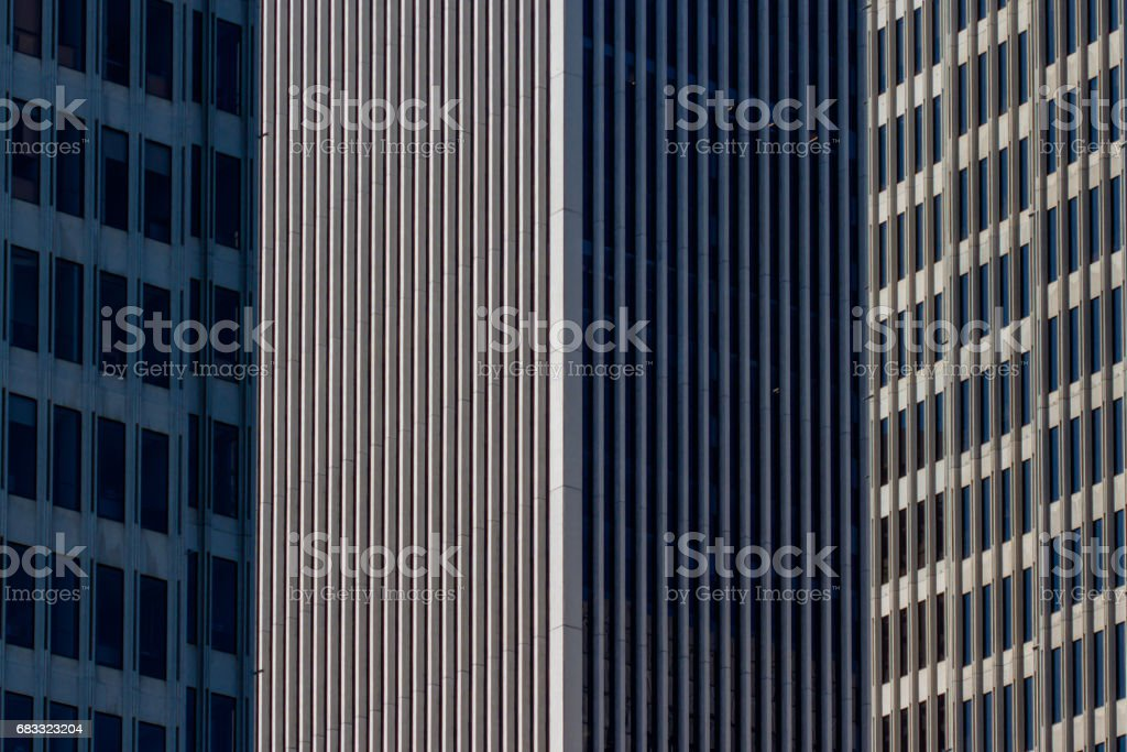 Office window facade royaltyfri bildbanksbilder