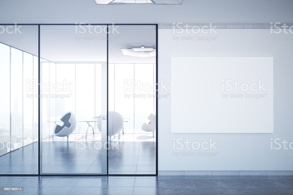 Office with banner royalty-free stock photo