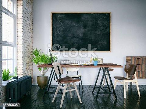 istock Office with Blackboard 667506382