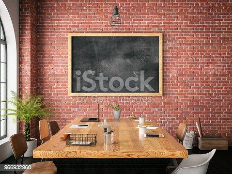 istock Office with Blackboard 966932960
