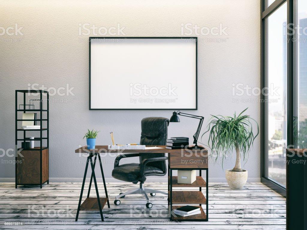 Büro mit leeren Rahmen – Foto