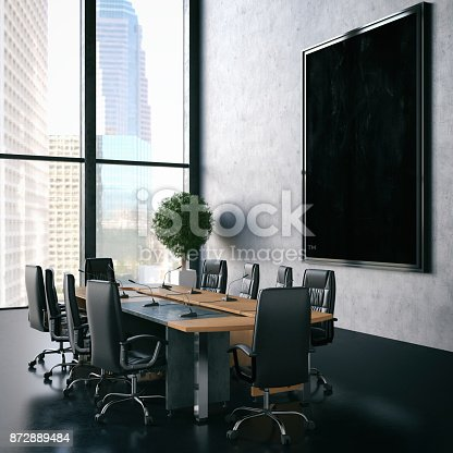 istock Office with Empty Frame 872889484