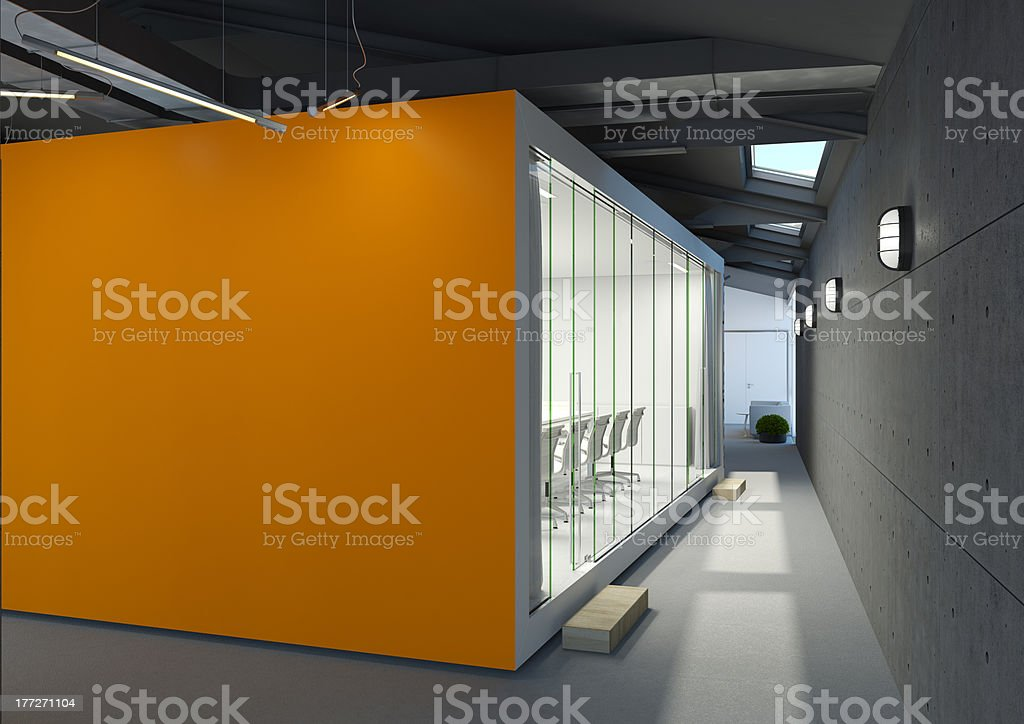office with meeting room stock photo