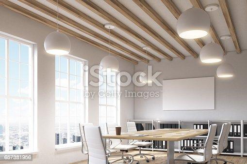 istock Office with three windows 657381956