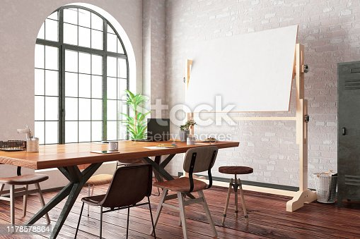 istock Office with White Board 1178578864