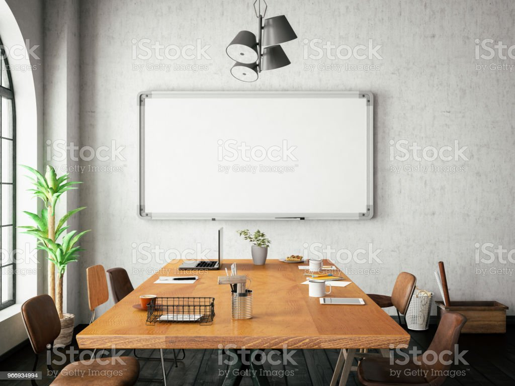 Bureau avec tableau blanc u photos et plus d images de affaires