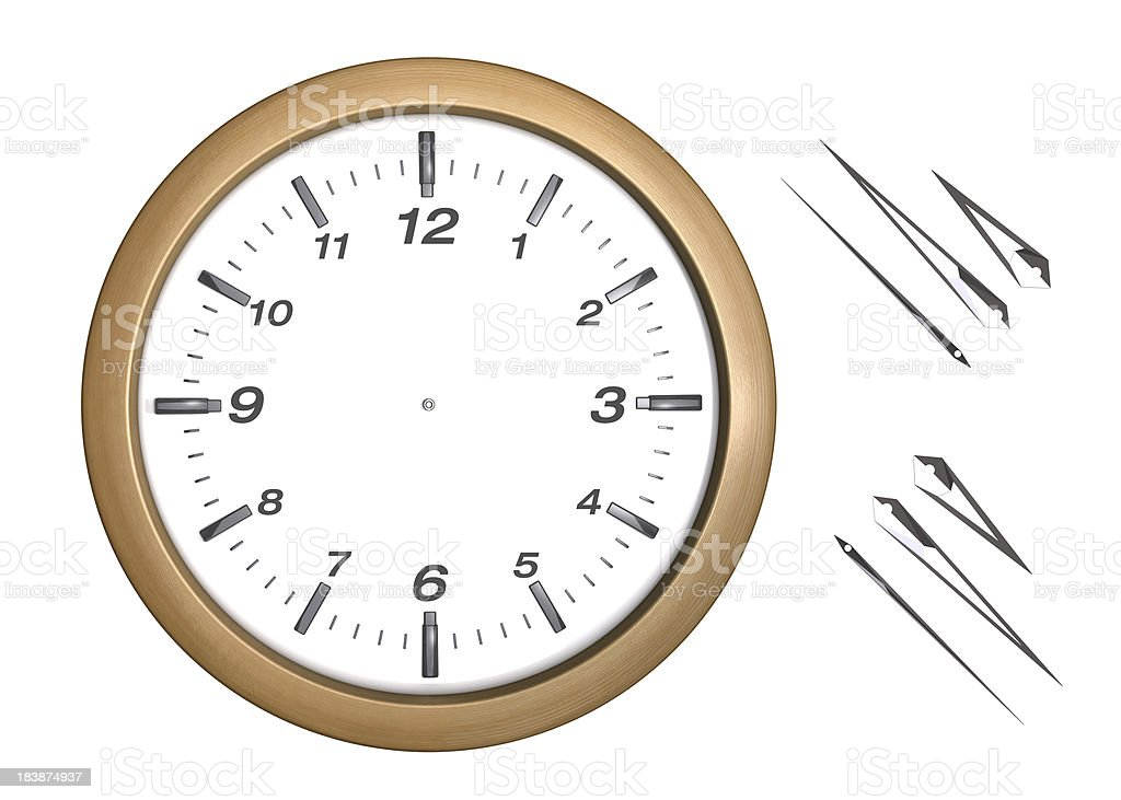 Office Wooden Wall Clock royalty-free stock photo