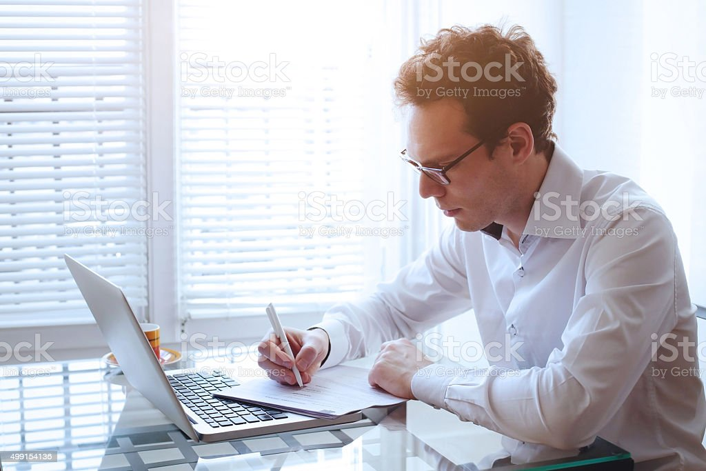 office work stock photo