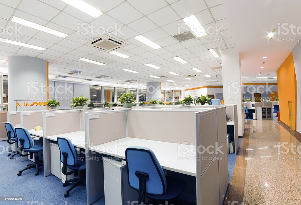 office work place stock photo