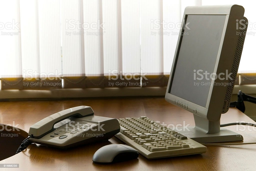 Office work place royalty-free stock photo