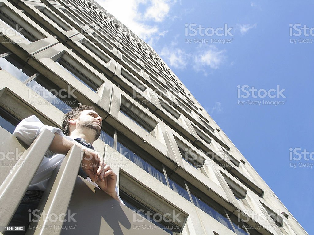 Office worker daydreaming royalty-free stock photo
