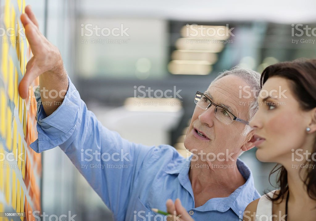 Office worker discussing with each other stock photo