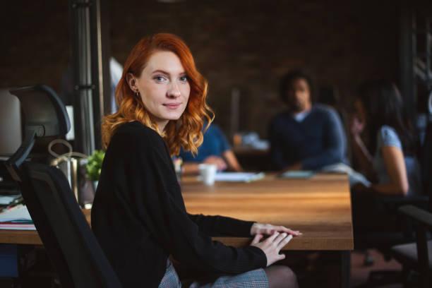 Office worker portrait stock photo
