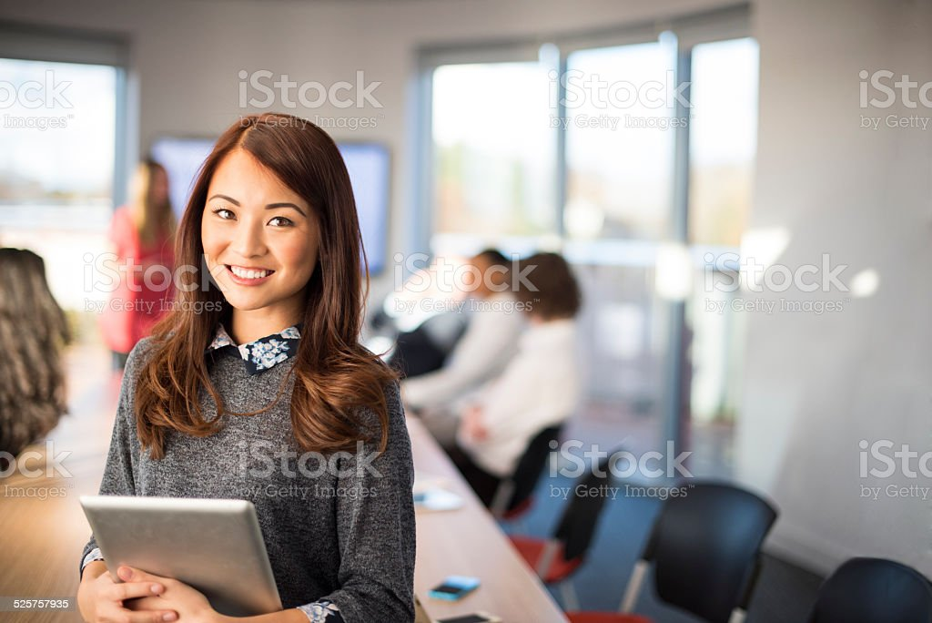office worker portrait stock photo