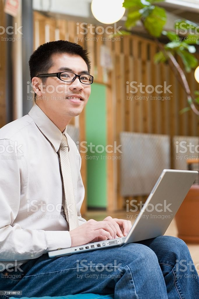 Office worker using laptop royalty-free stock photo
