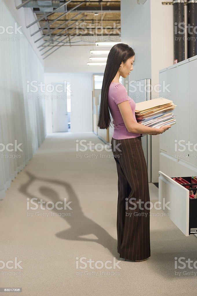 office worker with revealing shadow royaltyfri bildbanksbilder