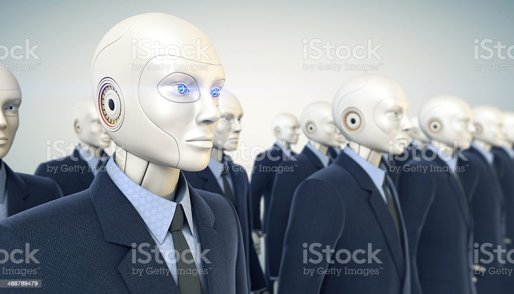 Office workers army stock photo