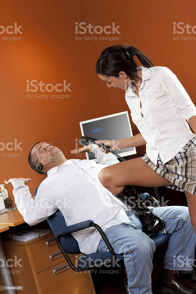 Office workers disagree royalty-free stock photo