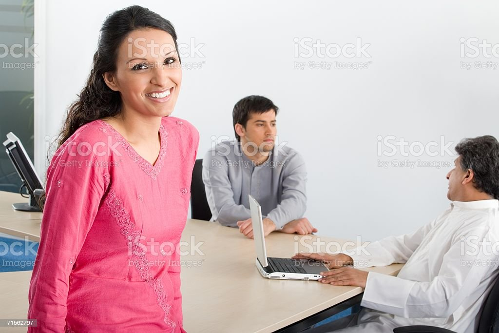 Office workers in a meeting royalty-free stock photo
