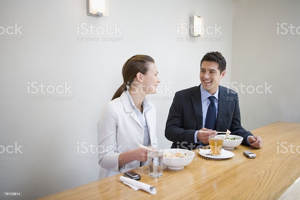 Office workers in restaurant royalty-free stock photo