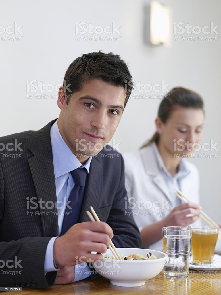 Office workers in restaurant 免版稅 stock photo