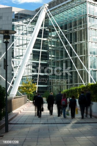 889637894 istock photo Office Workers Walking to Work, Blurred Motion 183361209