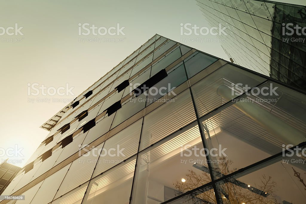 Officebuilding during sunset royalty-free stock photo