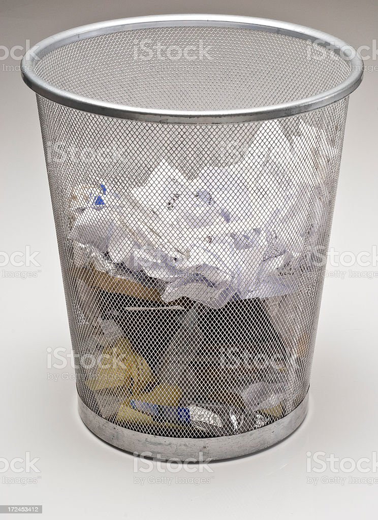 Officee trash can stock photo