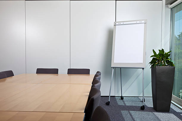 Office/Meeting Room with flipchart Office/Meeting Room with flipchart flipchart stock pictures, royalty-free photos & images