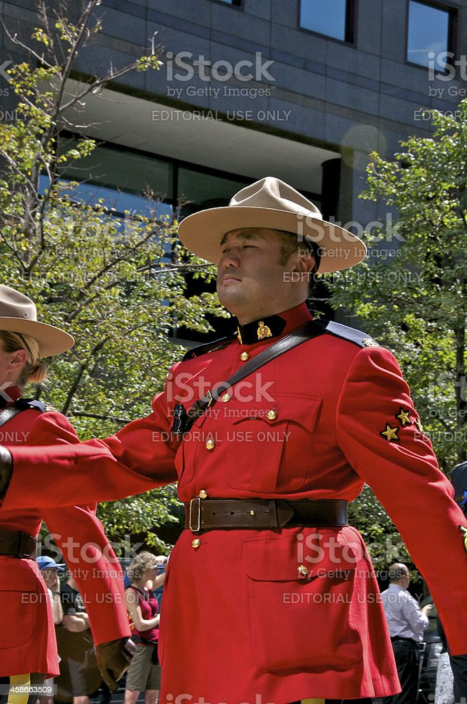 RCMP officer at NYPD Memorial ceremony, September 9, 2011, NYC royalty-free stock photo
