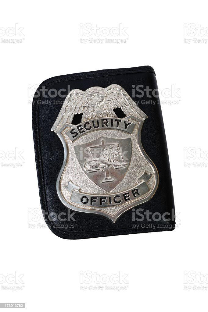 Officer badge stock photo