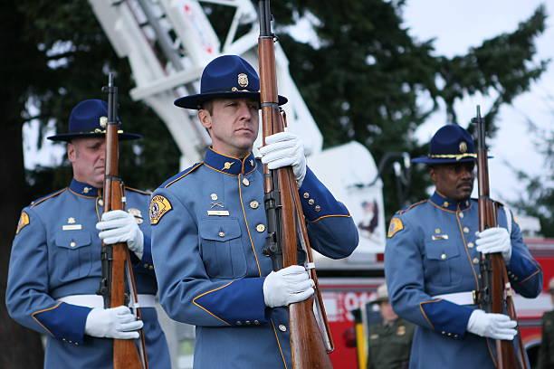 Officer Memorial stock photo