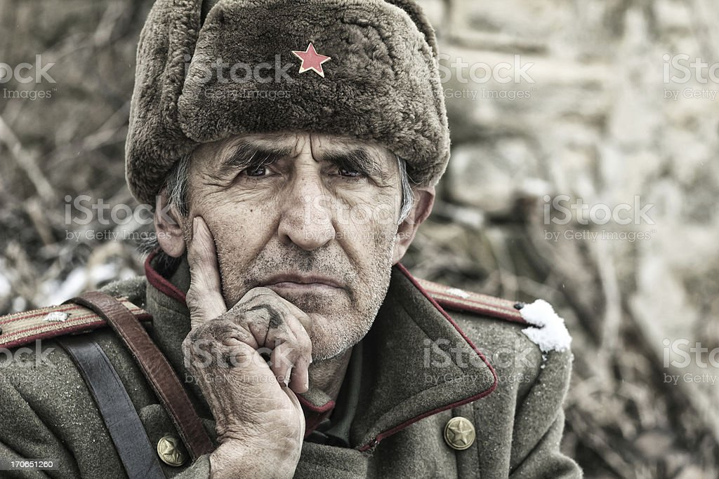WWII  Officer royalty-free stock photo