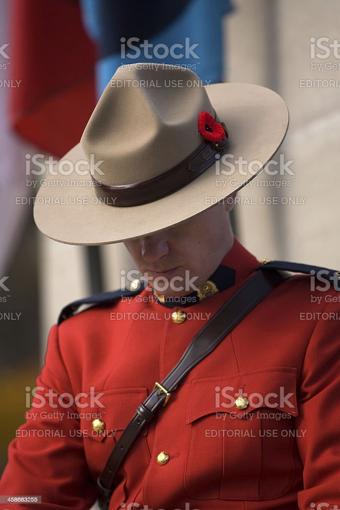 RCMP Officer royalty-free stock photo