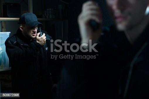 istock Officers calling for back up 505672568