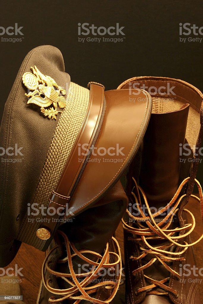 Officers hat royalty-free stock photo