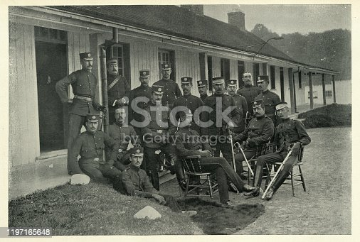 istock Officers of Royal Regiment of Canadian infantry, 19th Century 1197165648