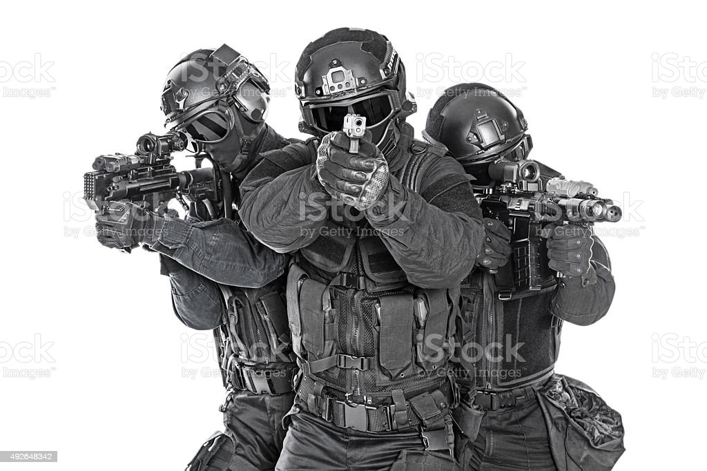 SWAT officers stock photo