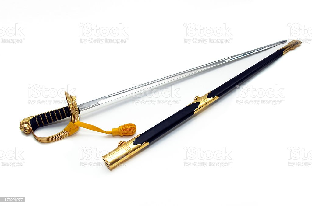 Officer's Sword royalty-free stock photo