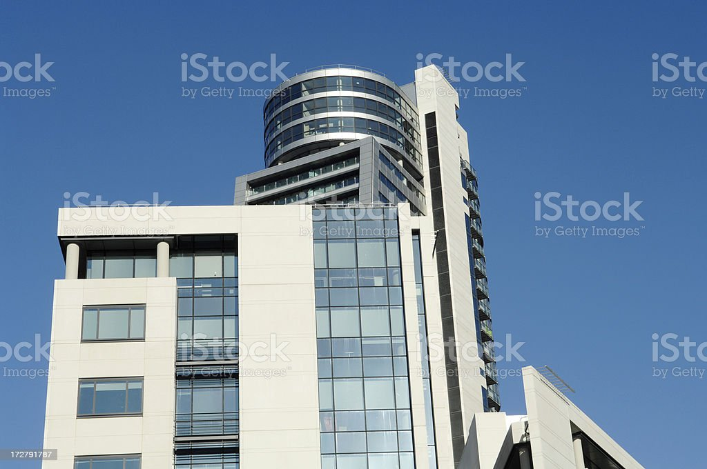 Offices and Apartments Leeds UK royalty-free stock photo