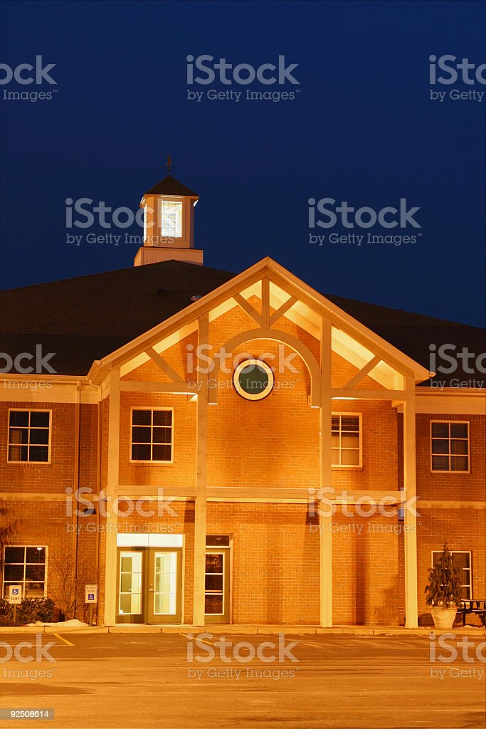 Offices at Dusk 1 royalty-free stock photo