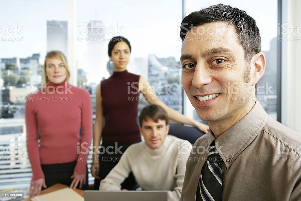 Office's team royalty-free stock photo