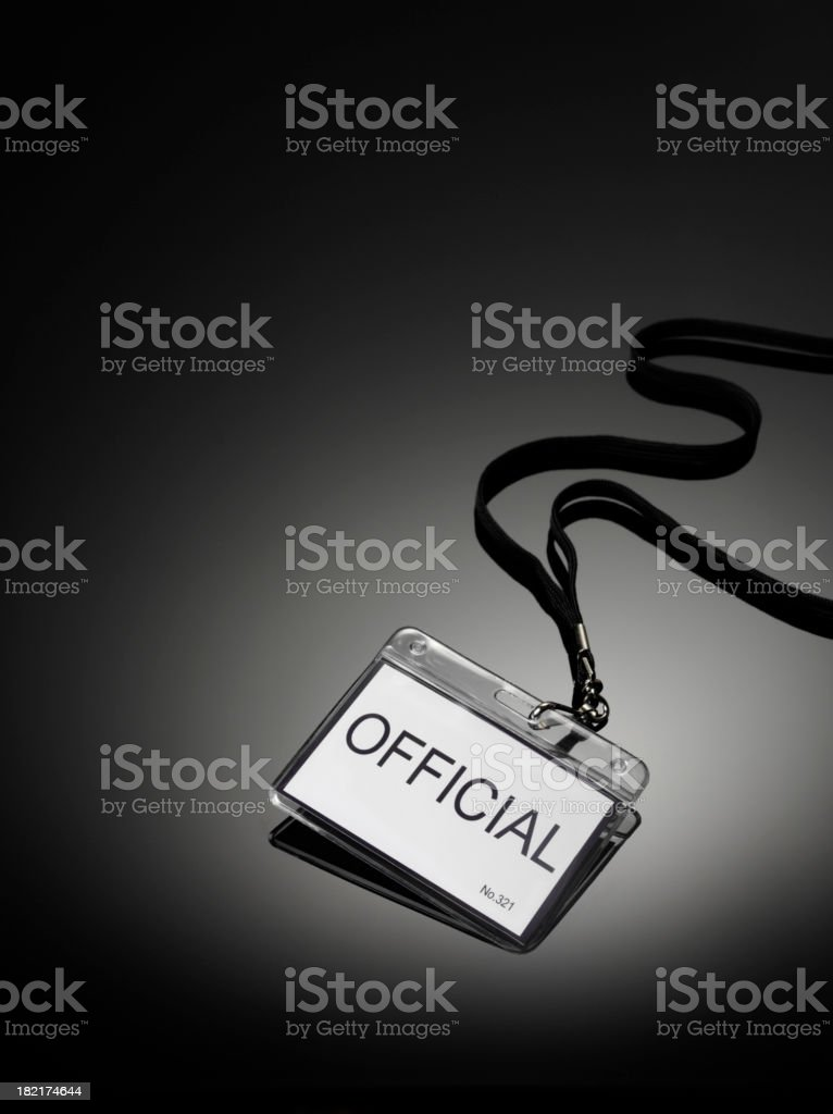 Official Badge stock photo