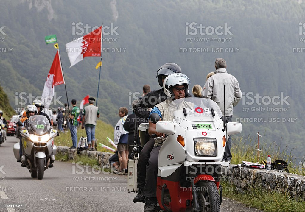 Official bikes during the Tour of France royalty-free stock photo