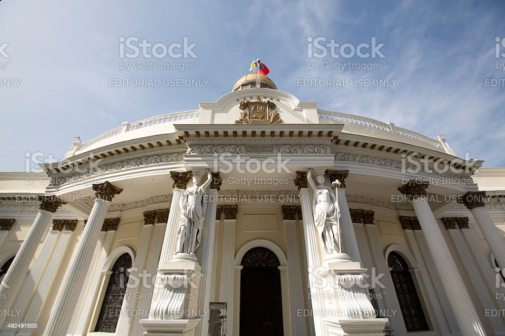 Official Building in Caracas, Venezuela stock photo