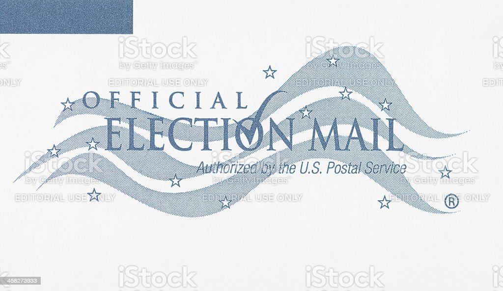 Official Election Mail stock photo