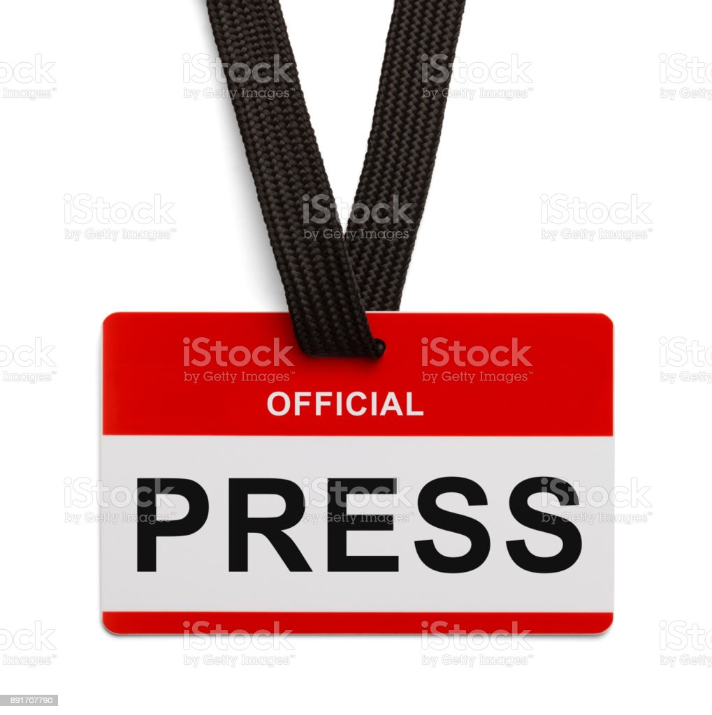 Official Press Card stock photo