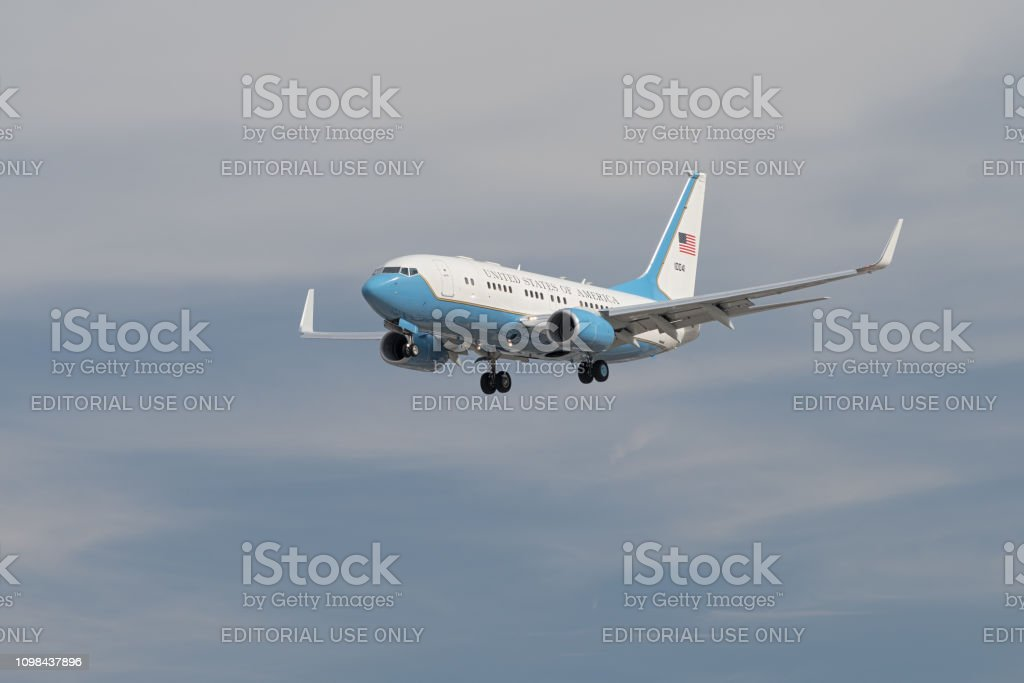 Official United States of America jet. stock photo