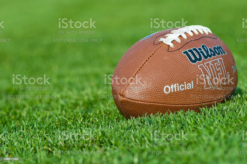 Official Wilson NFL ball stock photo
